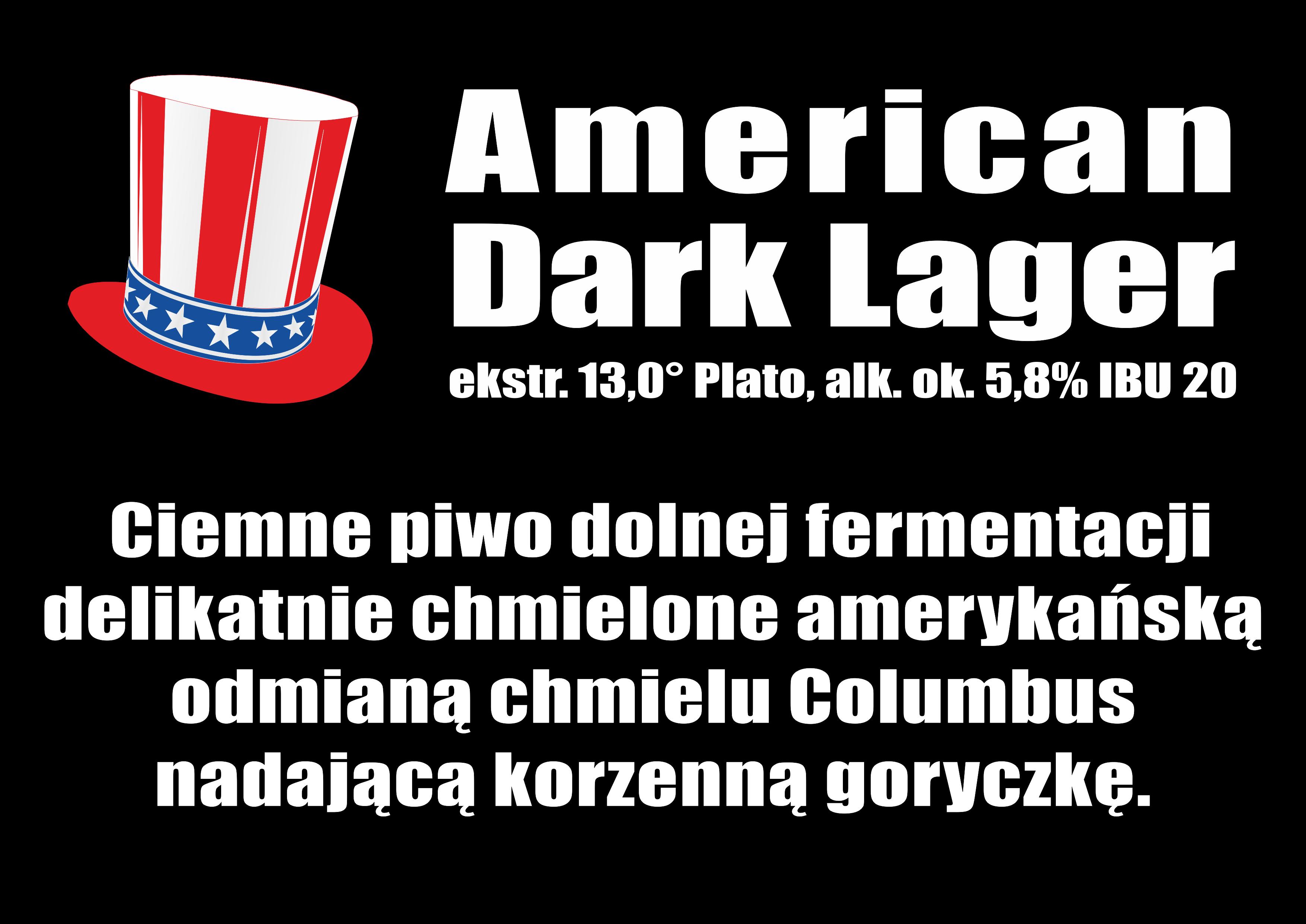 American Dark Lager - na telewizor